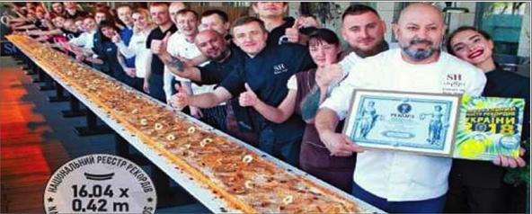 Photo of رقم قياسي لمغترب سوري في أوكرانيا  بقالب حلوى طوله 16 متراً