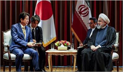 Photo of روحاني وآبي يبحثان سبل تنمية  وتطوير العلاقات الثنائية