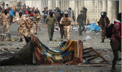 Photo of الداخلية العراقية تستنكر «جريمة الوثبة» التي هزت الرأي العام.. والمتظاهرون يطلقون هاشتاغ «القاتل لا يمثلني»  السيستاني يندّد بقتل وخطف المحتجين العراقيين ويدعو إلى حصر السلاح بيد الدولة