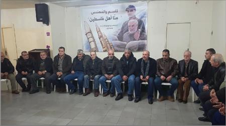 Photo of مجلس عزاء لسليماني والمهندس  في مخيم برج البراجنة