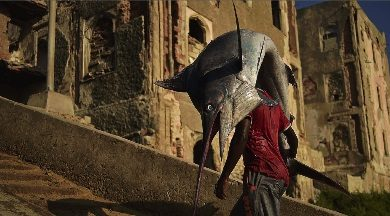 Photo of اصطياد سمكة هامور عملاقة بحجم إنسان