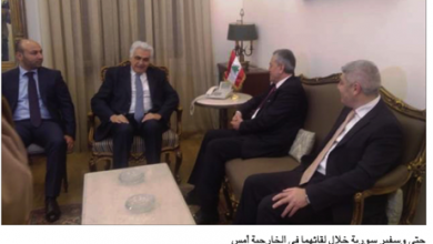 Photo of سفراء هنأوا حتّي علي عبد الكريم: لبنان وسورية لا يستطيعان النجاح من دون التكامل