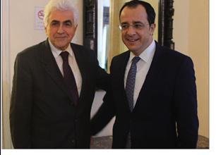 Photo of وزير خارجيّة قبرص بحث مع دياب وحتّي وغجر سبل تنمية العلاقات الثنائيّة والتعاون في قطاع البترول