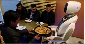 Photo of روبوت «لغويّ» بخدمة الزبائن  في مطعم أفغانيّ