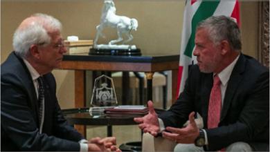 """Photo of «الأردن» تؤكد لمفوّض أوروبيّ بضرورة """"حلّ الدولتين"""""""