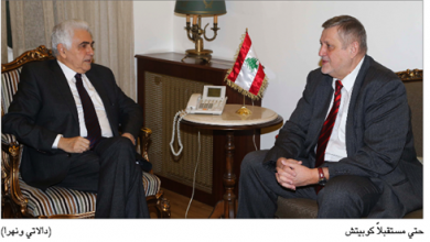 Photo of كوبيتش نقل إلى حتّي تضامن المنظمة الدولية مع لبنان والتقى خليل
