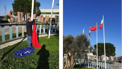 Photo of إيطاليّون يردّون الجميل للنبل الصينيّ.. باستبدال علم الاتحاد الأوروبيّ