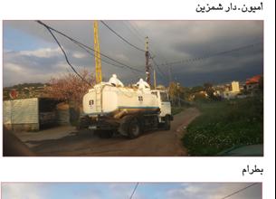 Photo of لقطات من حملة التعقيم التي نفذتها منفذية الكورة في «القومي» في بلدات الكورة