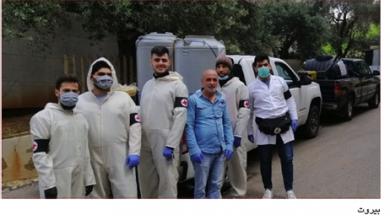 Photo of صور من حملات التعقيم التي تقوم بها الوحدات الحزبية في الشام ولبنان