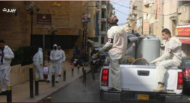 Photo of من حملات التعقيم التي نفذها «القومي» في بيروت وصيدنايا وبقين