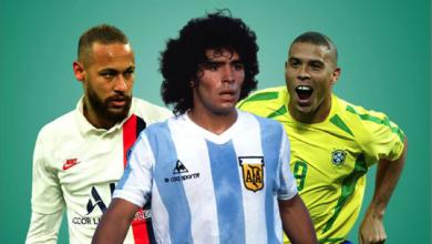 Photo of أغلى اللاعبين في تاريخ كرة القدم البرازيليّ رونالدو فالأرجنتينيّ مارادونا