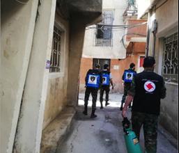 Photo of منفذية دمشق في «القومي» تواجه مخاطر كورونا بتوزيع المساعدات الدوائيّة والغذائيّة والتشديد على التوعية للحفاظ على الالتزام بالإجراءات الوقائيّة