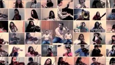 Photo of أوركسترا معهد صلحي الوادي تحتفل بذكرى افتتاح دار الأسد للثقافة والفنون إلكترونياً