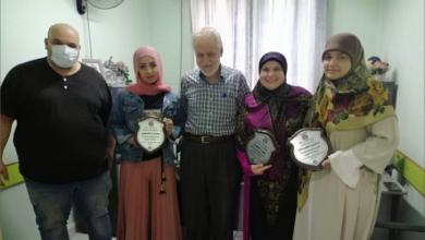Photo of تكريم الموظفين المتطوّعين لإجراء اختبارات  PCR في مستشفى بعلبك الحكومي