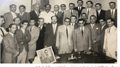 Photo of صورة نادرة للامين اسد الاشقر خلال زيارته الارجنتين