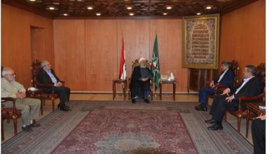 Photo of فيروزنيا زار دريان والخطيب: نقف إلى جانب لبنان وشعبه بكل أطيافه