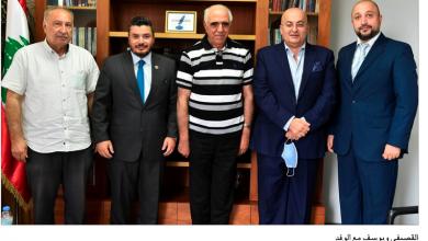 Photo of التقى وفداً من جمعية الاعلاميين الرياضيين القصيفي: هدفنا التكاتف لإنقاذ المهنة