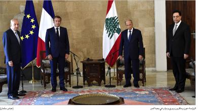 Photo of قمة لبنانية فرنسية في بعبدا حضر جانباً منها بري ودياب