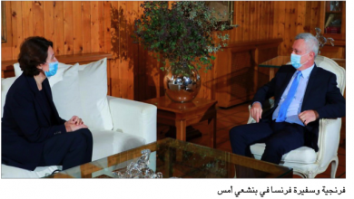 Photo of السفيرة الفرنسية التقت فرنجية وجنبلاط والراعي