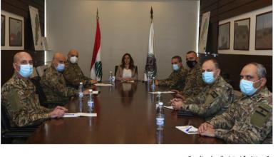 Photo of عكر زارت بكركي ومستشفى الكرنتينا وترأست اجتماعاً لبحث الإجراءات الأمنية