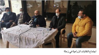 Photo of النقابات الزراعية بقاعاً رفضت دخول البطاطا المصرية:  لوقف وصاية «الاقتصاد» على القطاع