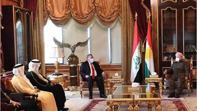 Photo of مسعود البرزاني لدبلوماسيّين: «كردستان» يريد التوصل إلى حل دستوريّ مع بغداد
