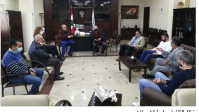 Photo of وفد من «القوميّ» زار رئيس بلدية الشويفات وأبلغه رغبة منفذية المتن الجنوبي بتقديم «لمبات» لإنارة شارع العمروسية