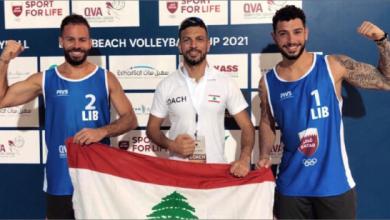 Photo of القزي وصليبا إلى نهائيّ الجولة العالميّة  في الكرة الشاطئيّة بعد تألقهما في قطر