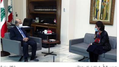 Photo of عون التقى سفيرة فرنسا والبحث تناول الأزمة الحكومية