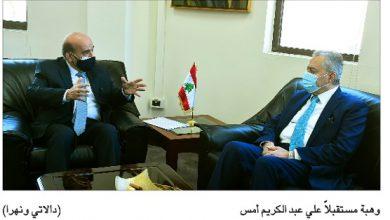 Photo of وهبة سلّمه مذكرة حول ترسيم المياه اللبنانية  السفير السوري: نرحّب دائماً بأيّ تنسيق